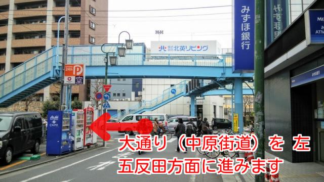 武蔵小山みずほ銀行,中原街道
